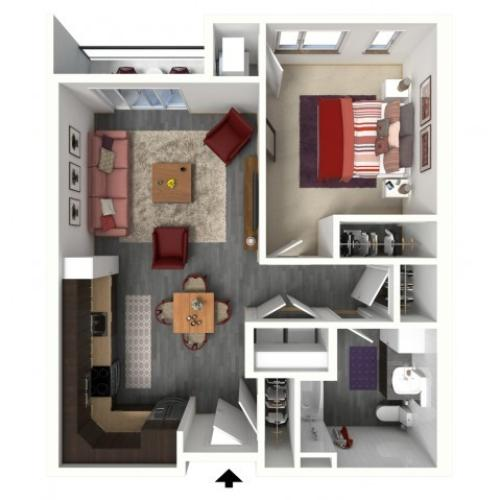 Floor Plan B2A | 1505 Apartments | Apartments in Grafton, WI