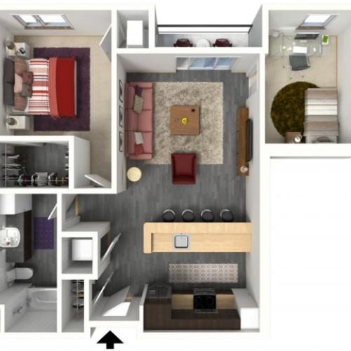 Floor Plan C2 | 1505 Apartments | Apartments in Grafton, WI