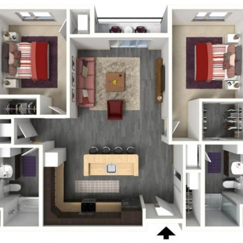 Floor Plan D2 | 1505 Apartments | Apartments in Grafton, WI
