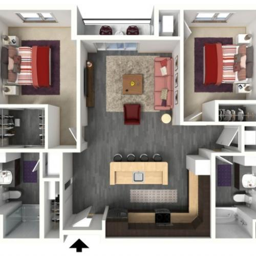 Floor Plan D3 | 1505 Apartments | Apartments in Grafton, WI