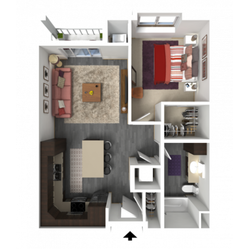 Floor Plan B1 | 1 Glenn Place | Apartments in Fitchburg, WI