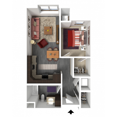 Floor Plan A1 | 1 Glenn Place | Apartments in Fitchburg, WI