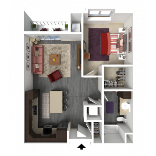 Floor Plan B4 | 1 Glenn Place | Apartments in Fitchburg, WI
