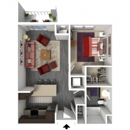 Floor Plan B3 | 1 Glenn Place | Apartments in Fitchburg, WI