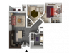 Floor Plan C2 | 1 Glenn Place | Apartments in Fitchburg, WI