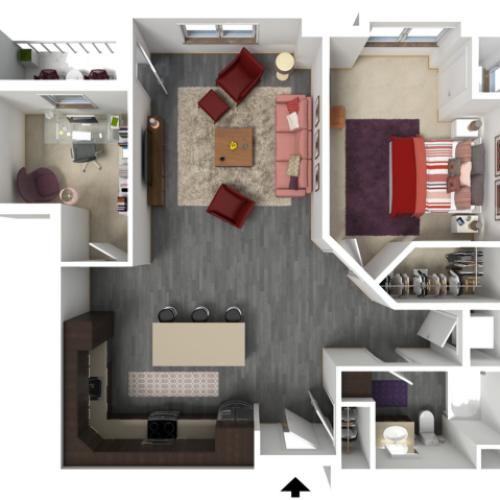 Floor Plan C5 | 1 Glenn Place | Apartments in Fitchburg, WI