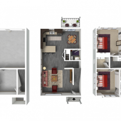 Floor Plan TD1 | 1 Glenn Place | Apartments in Fitchburg, WI