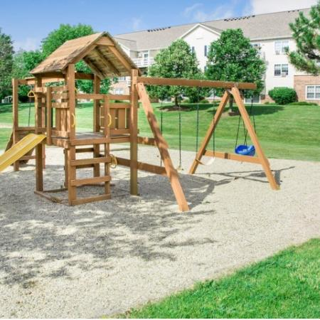Community Children's Playground   Apartment Homes in Kenosha, WI   Riverwood Apartments
