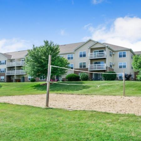 Sand Volleyball Court   Kenosha WI Apartments For Rent   Riverwood Apartments