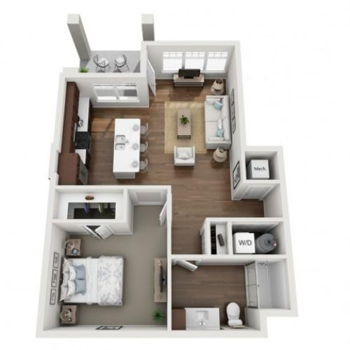 Floor Plan 1A | Seasons at Orchard Hills | Apartments in Oak Creek, WI