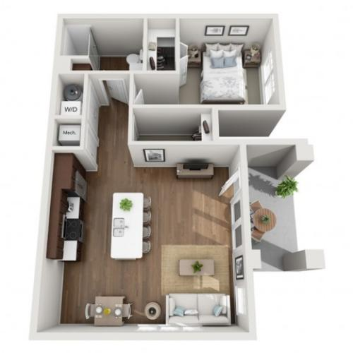 Floor Plan 1B | Seasons at Orchard Hills | Apartments in Oak Creek, WI