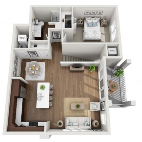 Floor Plan 1F | Seasons at Orchard Hills | Apartments in Oak Creek, WI