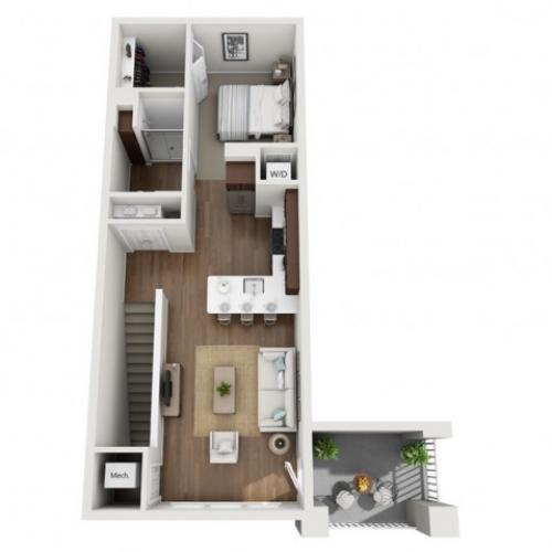 Floor Plan A | Seasons at Orchard Hills | Apartments in Oak Creek, WI