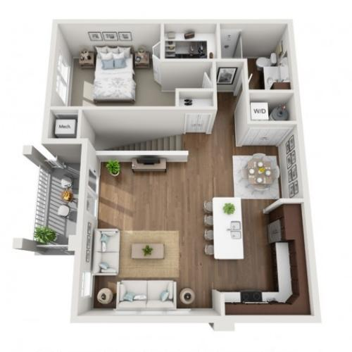 Floor Plan 1G | Seasons at Orchard Hills | Apartments in Oak Creek, WI