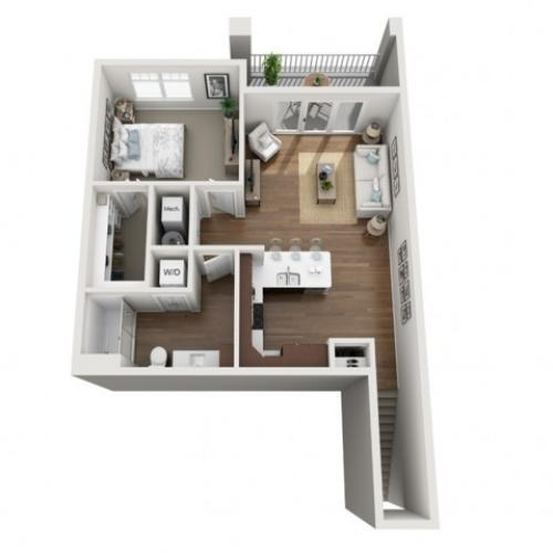 Floor Plan 1J | Seasons at Orchard Hills | Apartments in Oak Creek, WI