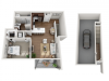 Floor Plan 1L | Seasons at Orchard Hills | Apartments in Oak Creek, WI
