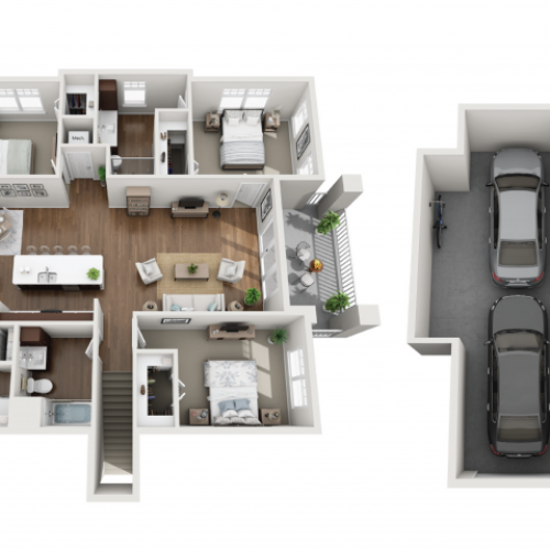 Floor Plan 3B | Seasons at Orchard Hills | Apartments in Oak Creek, WI