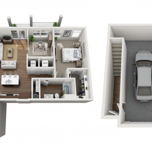 Floor Plan 1K | Seasons at Orchard Hills | Apartments in Oak Creek, WI