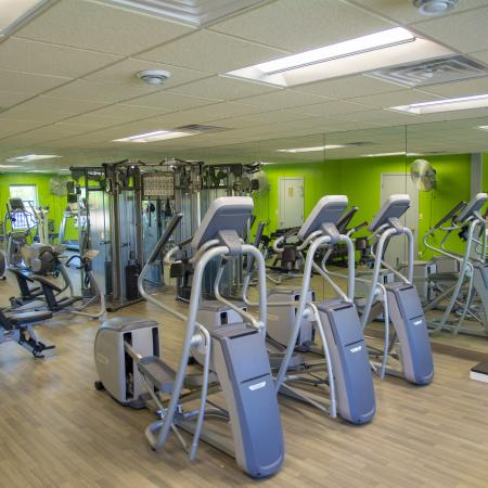 Stair Climbers at Fitness Center | Apartments Pewaukee, WI |