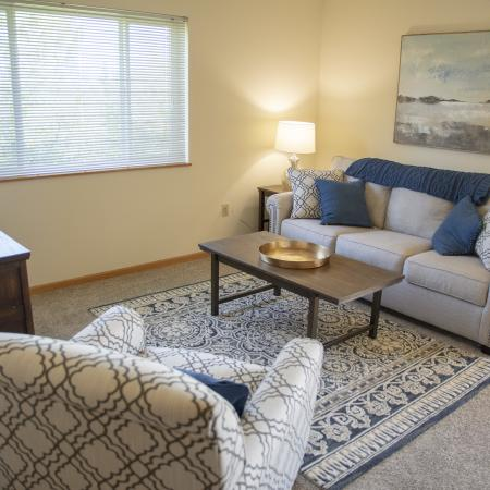 Living Room | Apartments for rent in Pewaukee, WI |