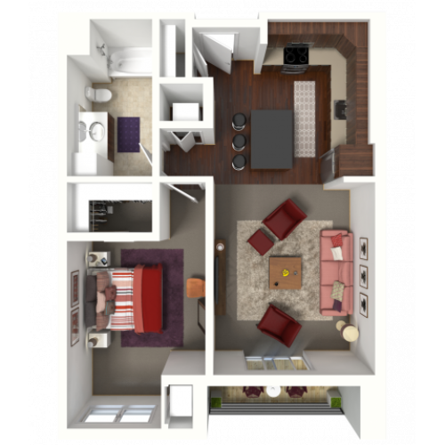 Floor Plan B1 | 50Twenty | Apartments in Madison, WI