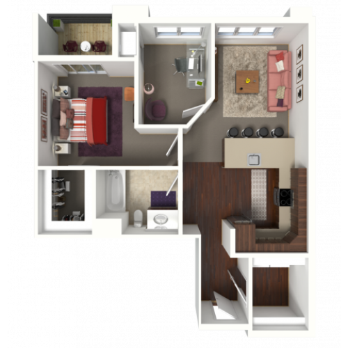 Floor Plan C1 | 50Twenty | Apartments in Madison, WI