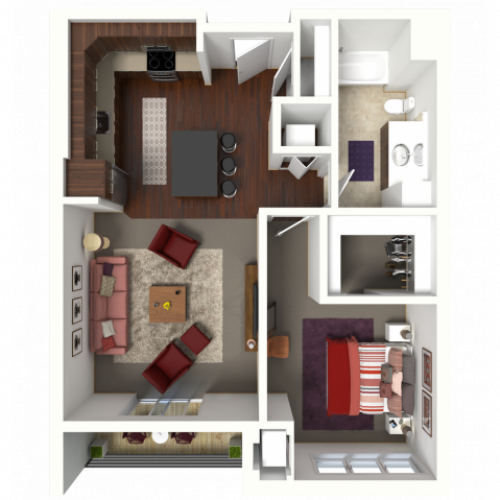 Floor Plan B2 | 50Twenty | Apartments in Madison, WI
