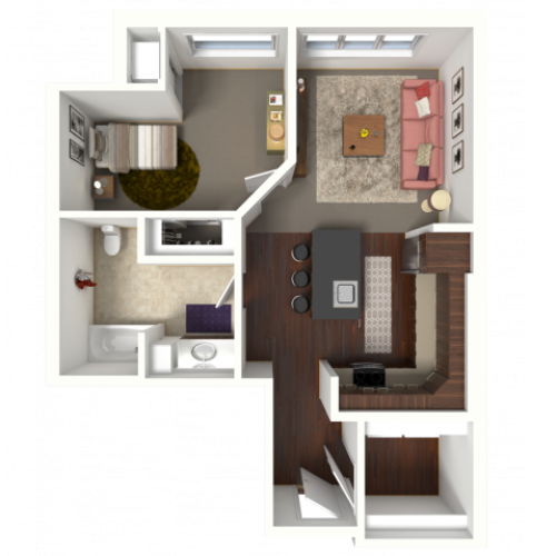 Floor Plan B4 | 50Twenty | Apartments in Madison, WI