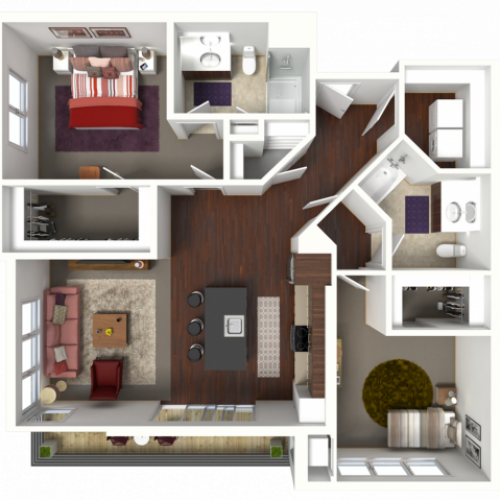 Floor Plan D2 | 50Twenty | Apartments in Madison, WI