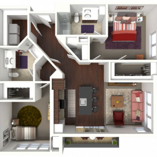 Floor Plan D3 | 50Twenty | Apartments in Madison, WI