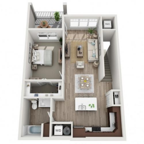 Floor Plan 1E | Seasons at Randall Road | Apartments in West Dundee, IL