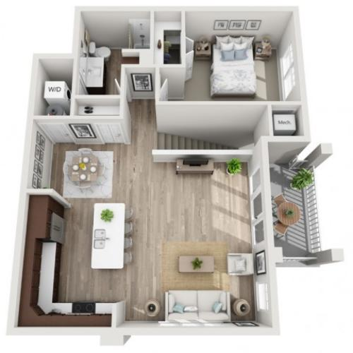 Floor Plan 1F | Seasons at Randall Road | Apartments in West Dundee, IL