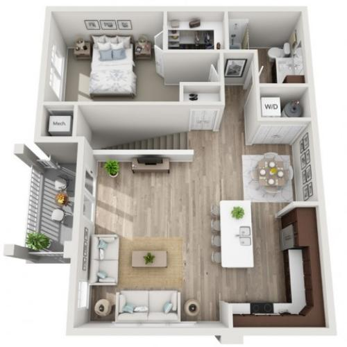 Floor Plan 1G | Seasons at Randall Road | Apartments in West Dundee, IL