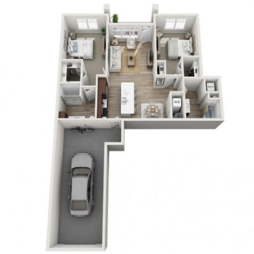 Floor Plan 2B | Seasons at Randall Road | Apartments in West Dundee, IL