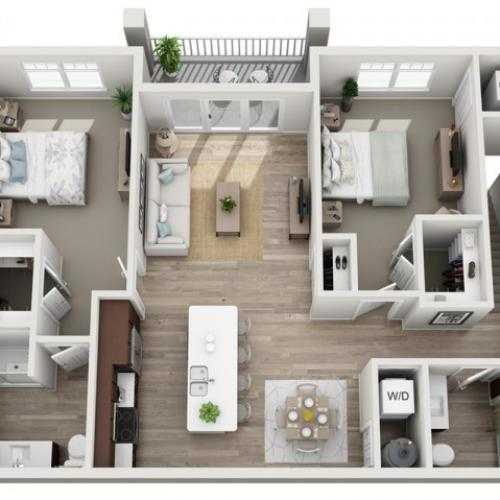 Floor Plan 2D | Seasons at Randall Road | Apartments in West Dundee, IL