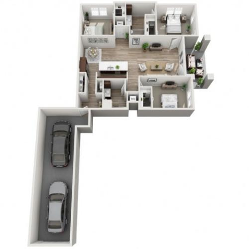 Floor Plan 3A | Seasons at Randall Road | Apartments in West Dundee, IL
