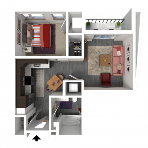 Floor Plan A3 | Forte at 84 South | Apartments in Greenfield, WI