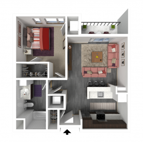 Floor Plan B2 | Forte at 84 South | Apartments in Greenfield, WI