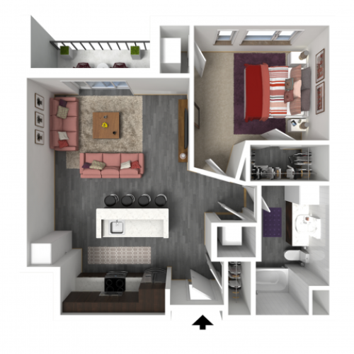 Floor Plan B3 | Forte at 84 South | Apartments in Greenfield, WI