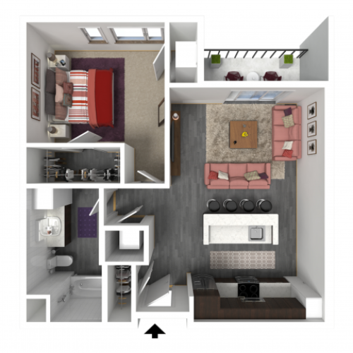 Floor Plan B5 | Forte at 84 South | Apartments in Greenfield, WI