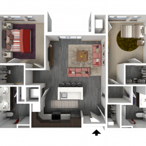 Floor Plan D1 | Forte at 84 South | Apartments in Greenfield, WI