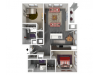 Floor Plan D2 | Forte at 84 South | Apartments in Greenfield, WI