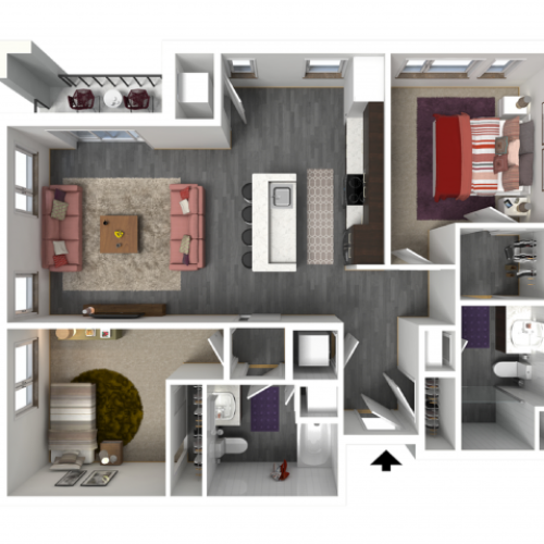 Floor Plan D3 | Forte at 84 South | Apartments in Greenfield, WI