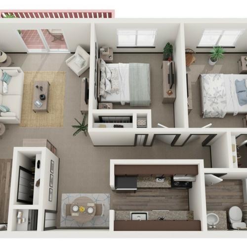 Remodeled 2 Bedroom
