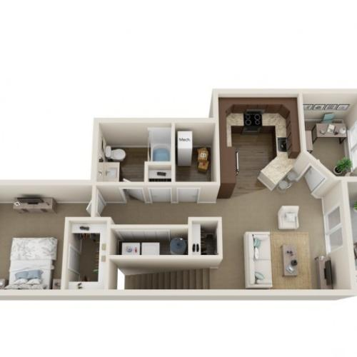 Floor Plan C | High Bluff Townhomes | Apartments in Grafton, WI