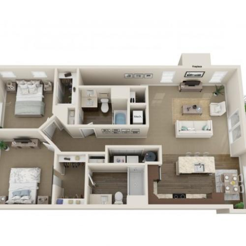 Floor Plan D | High Bluff Townhomes | Apartments in Grafton, WI