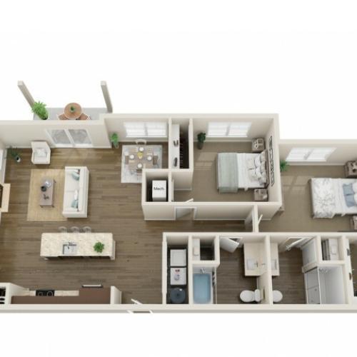 3D Floorplan E