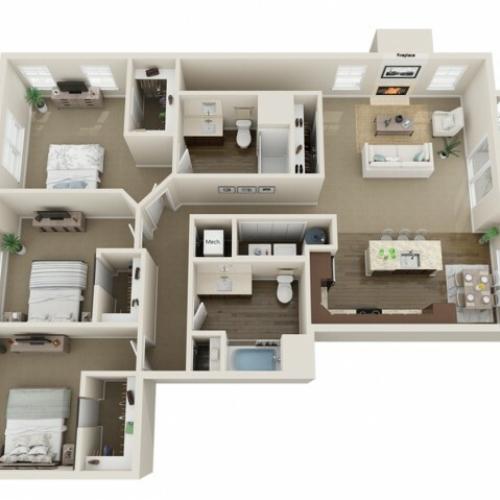 3D Floorplan F