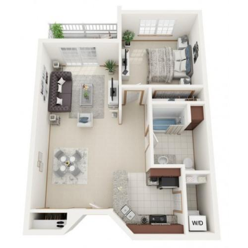 Floor Plan A | Riverwood Apartments | Apartments in Kenosha, WI