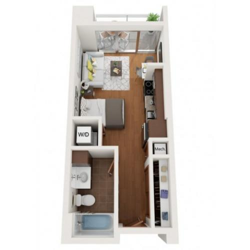 Floor Plan E2 | Domain | Apartments in Madison, WI